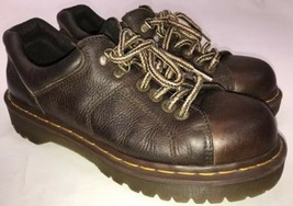 Dr Doc Martens Brown Leather 8312 Bicycle Toe 6-Eye Chunky Ankle Boots W... - $39.60