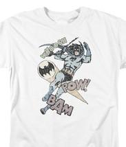 Batman Swoosh Pow Bam DC Comics Superhero Retro Distressed Graphic tee BM2573 image 3