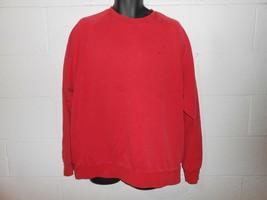 Vintage 90s Distressed Red Nike Crewneck Sweatshirt XL - $14.99