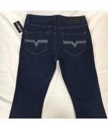 O'Neill Womens Jeans Blue Dark Wash Cotton Stretch Flare Juniors Size 9x34 - $40.22