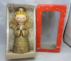 Vintage 1960's ceramic Xmas angel candle holder in box. Japan - $22.99