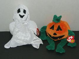 Lot of 2 Halloween Beanie Babies Sheets(Ghost) & Pumpkin - $14.83