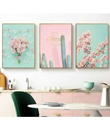 Pink Flower Picture Cactus Scandinavian Poster Art Print Posters And Pri... - $5.99+
