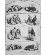 JAPAN Japanese Greeting Ceremony - 1882 Wood Engraving - $19.80