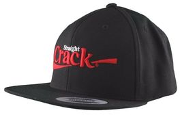 Dissizit Straight Crack Yupoong Wool Blend O/S Cap Black Red Embroidered Hat NWT image 3