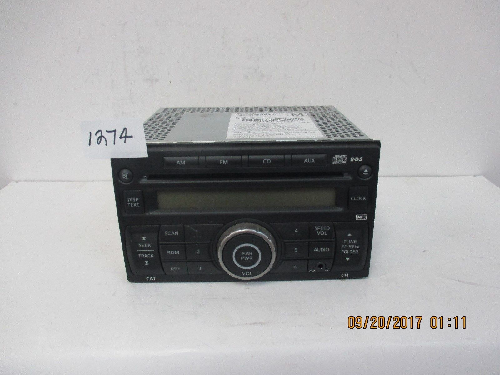 2012-15 Nissan NV Van CD Radio w/AUX 28185-1PA1A