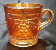 VINTAGE BANDED MARIGOLD MUG BY DUGAN GLASS - $18.00