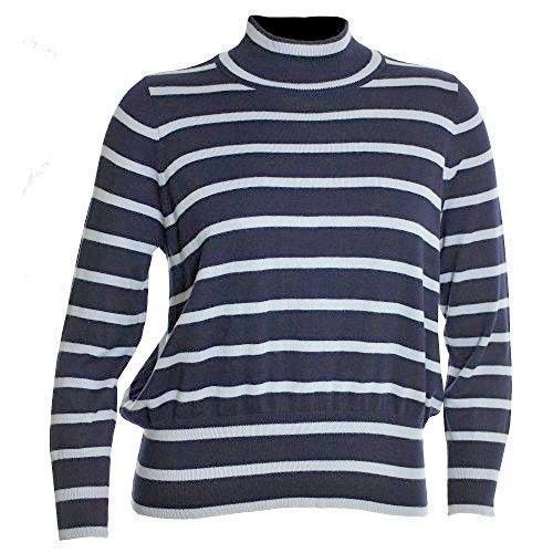Primary image for Melissa McCarthy Seven7 21336 Striped Turtleneck Knit Womens Blue Stripe $89
