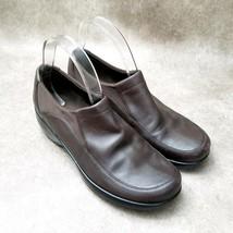 Easy Spirit Womens Tribuner  Sz 8.5 W Brown  Leather Slip On Loafers Low Heels - $26.99