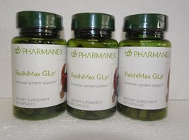 Three Pack: Nu Skin Nuskin Pharmanex ReishiMax GLP 60 Capsules SEALED x3 - $240.00