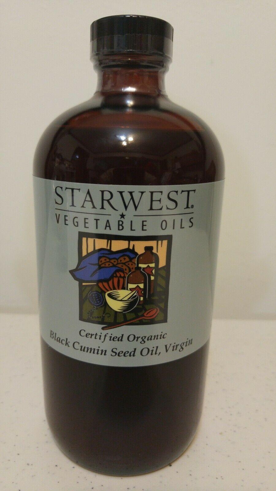 BLACK CUMIN SEED OIL VIRGIN 16 OUNCE CERTIFIED ORGANIC STARWEST VEGETABLE OILS - $38.98