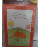 6 Thanksgivings Cards and Envelopes - $5.50