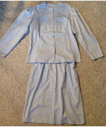 Vintage 1980s Avon Fashions Light Blue Skirt & Top Set Size 13/14 Made i... - $13.86
