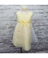 Youngland Girls Toddlers 4T Yellow Sleeveless Spring Floral Ladybug Dres... - $18.69