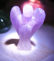 Haunted Pocket Charm Seraphim Angel Guide Vessel Amethyst Witch Cassia4 - $64.77
