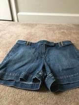 Ann Taylor Loft Women's Blue Denim Jean Shorts Sz 12  - $39.06