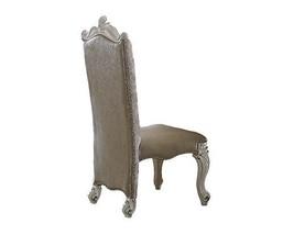 Acme Versailles Side Chair (Set-2) - 61132 - Vintage Gray Pu/Fabric & Bone White - $859.19