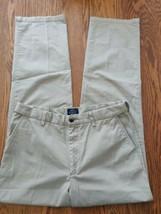 St Johns Bay iron free men's size 34 x 34 pants light brown color high r... - $26.76