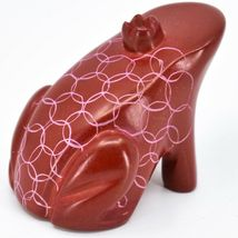 Vaneal Group Hand Carved Kisii Soapstone Fairytale Red Frog Prince Figure Kenya image 4