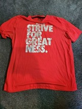 Nike Dri Fit Size XL Mens Red Strive For Greatness Word Logo Short Sleev... - $17.95