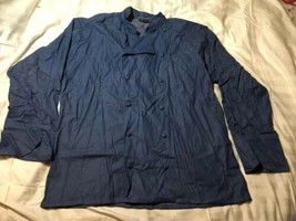 Uncommon Threads 0460C-1705 Sante Fe Chef Coat in Chambray - XLarge - $34.65