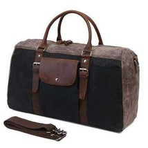 Sale, Military Duffel Bag ,Travel Bag, Canvas with Leather Duffel Bag, Men's Tra image 1