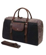Sale, Military Duffel Bag ,Travel Bag, Canvas with Leather Duffel Bag, M... - $110.00