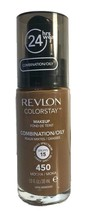 Revlon Colorstay 24 Hr Foundation Makeup Combination Oily Skin, 450 Mocha - $7.94