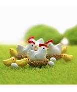 Miniatura de Pollo Gallina Landschaft Familia Mini Animal Craft Micro Pa... - $3.50