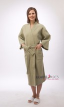 XXL Waffle Kimono Spa Robe, Hunter Green, Party, #AR101X x1 - ₨2,238.32 INR