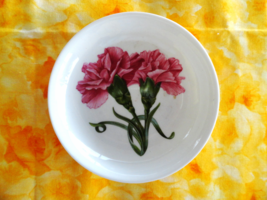 Carnation Chelsea Flowers 4.25 Dish Aynsley England Fine Bone China - $6.99