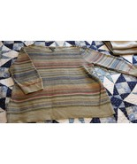 Ralph Lauren Boatneck Desert Color Sheer Linen Knit Stripe Top XL - $19.79