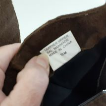 Jack Sprat Brown Suede Genuine Leather Floral Embroidered Sz 10 M Ankle Boots image 4