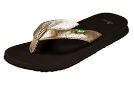 Sanuk Womens Yoga Mat Wander Metallic Flip Flop Champagne Size 5 - $1.025,67 MXN