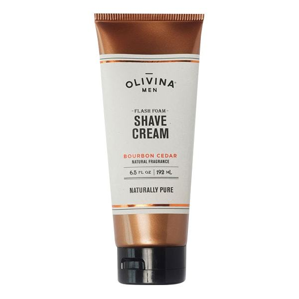 Olivina Men Flash Foam Shave Cream Bourbon Cedar 6.5oz