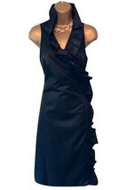 Isaac Mizrahi for Target Ladies Black Ruffle Wrap Dress UK 10/12 - $90.53