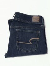 (11) American Eagle. Jeans. Size 6. Dark Wash. Super Stretch. Slim Boot. - $15.00