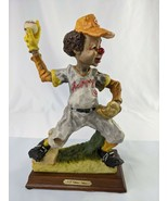 "Shyu Baseball Clown Figure Statue 10"" Resin Wood Base - $69.95"