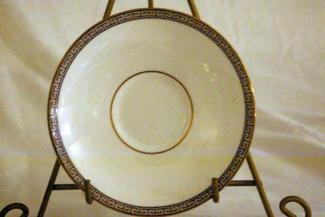 Wedgwood Palatia Cup And Saucer Set Greek Key