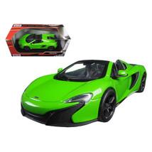 McLaren 650S Spider Green 1/24 Diecast Model Car by Motormax 79326grn - $29.91
