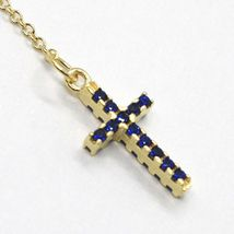 18K YELLOW GOLD ROSARY BRACELET, FACETED SAPPHIRE ROOT, CROSS, MIRACULOUS MEDAL image 4