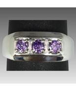 14k Amethyst Men's Ring, FREE SIZING - $420.00