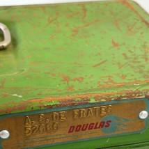 Vtg Climax Green Metal Storage Fishing Tackle Box Douglas Aircraft Co Na... - $39.99