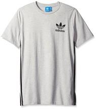 adidas Originals Mens Tops Elongated Tee Medium Grey Heather BK7586 - £22.72 GBP