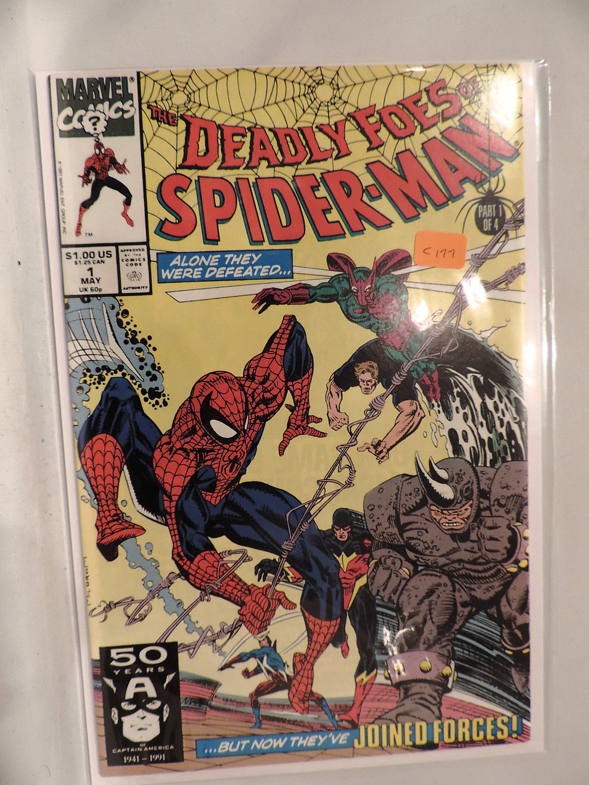 #1 The Deadly Foes of Spider-Man 1991  Marvel Comics C177