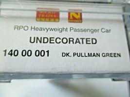 Micro-Trains # 14000001 Undecorated Dark Pullman Green Heavywight RPO Car (N) image 5