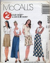 McCall's 2029 2 hour skirt Size E (14,16,18) - $11.76