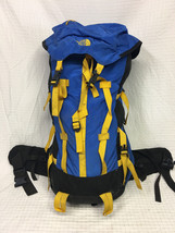 """GUC Blue THE NORTH FACE Internal LARGE Hiking backpack Weekend 36"""" tall ... - $89.95"""