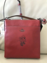 NWT COACH Minnie Mouse Messenger Crossbody Disney Leather $175 Red 37534 - $175.00