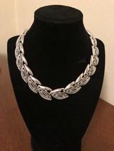 Vintage Silvertone Choker necklace - $7.50